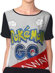 Pokémon go away Chiffon Top