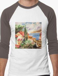 Italian landscape. Men's Baseball ¾ T-Shirt