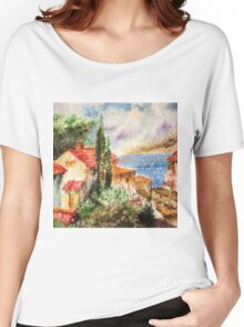 Italian landscape. Women's Relaxed Fit T-Shirt