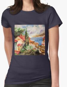 Italian landscape. Womens Fitted T-Shirt