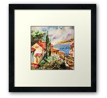 Italian landscape. Framed Print