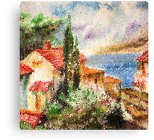 Italian landscape. Canvas Print