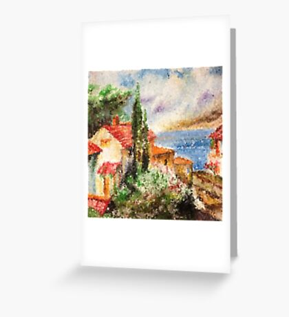 Italian landscape. Greeting Card
