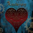 Owl Filigree Steampunk Fairytale Anniversary Card ~ Under The Ocean Blue by Sam Stormborn Ormandy