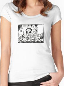 Sketch No. 5629 Women's Fitted Scoop T-Shirt