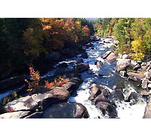 A Maine Stream In Autumn. This is a 18x12 image. Photographic Print