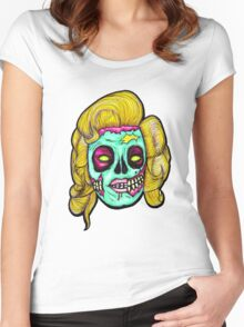 Marilyn: Pop Art Zombie Women's Fitted Scoop T-Shirt