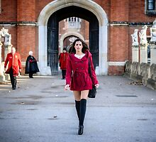 Striding Out from Hampton Court Palace by MarcW