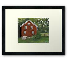 Vermont, red house Framed Print