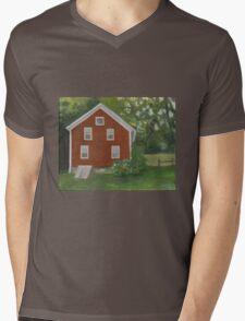 Vermont, red house Mens V-Neck T-Shirt