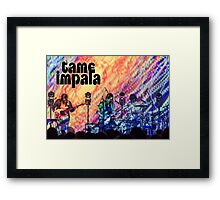Tame Impala Psychedelic Poster Framed Print