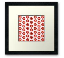 Pokeball Pattern - Pokemon Framed Print