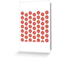 Pokeball Pattern - Pokemon Greeting Card