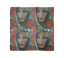 Blue Eyes Dark Oriental Scarf