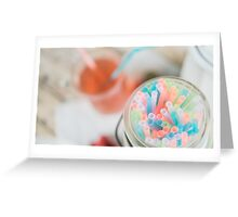Summer Straws and Tea Greeting Card