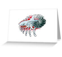 """""""Blood In The Water"""" Greeting Card"""