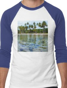 Beautiful tropical beach Men's Baseball ¾ T-Shirt