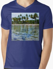 Beautiful tropical beach Mens V-Neck T-Shirt