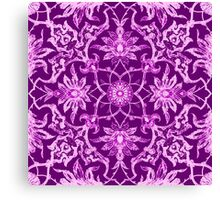 Art Nouveau Chinese Tile, Amethyst Purple Canvas Print