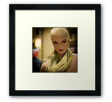 Fashion portrait of beautiful young woman doll  Framed Print