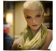 Fashion portrait of beautiful young woman doll  Poster