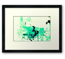 Green Drummer Framed Print