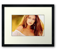 Very beautiful woman Portrait Framed Print