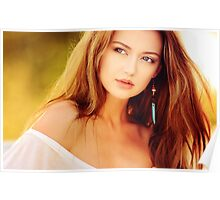 Very beautiful woman Portrait Poster