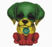 Cute Patriotic Ethiopian Flag Puppy Dog Kids Clothes