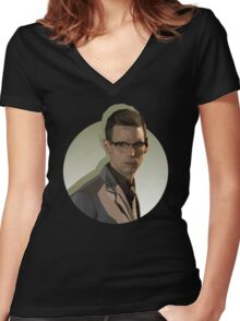 Ed Nygma Women's Fitted V-Neck T-Shirt
