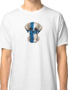 Cute Patriotic Finnish Flag Puppy Dog Classic T-Shirt