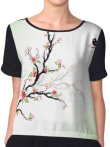 Cherry Blossoms Tree Chiffon Top