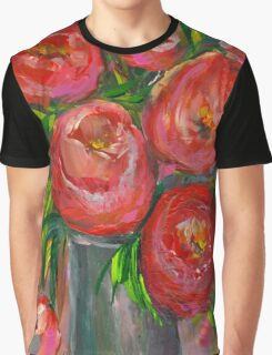 Abstract Tulips in Vase Graphic T-Shirt