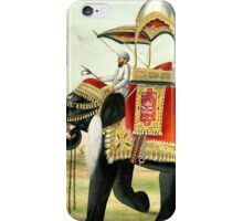 Vintage Decorated Elephant With Howdah Painting iPhone Case/Skin