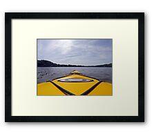 Yellow Mountain Kayak Framed Print