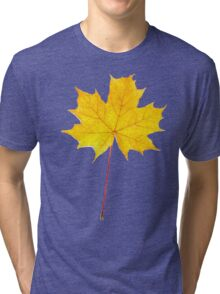 Yellow maple leaf Tri-blend T-Shirt