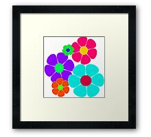 Hippie Flowers Framed Print
