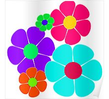 Hippie Flowers Poster