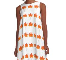 Red maple leaf A-Line Dress