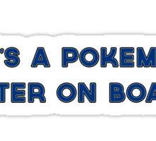 Pokemon Master on board Sticker