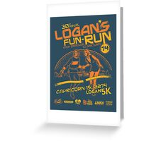 Logan's Fun-Run Greeting Card