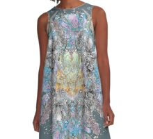 Psychedelic flower bouquet A-Line Dress