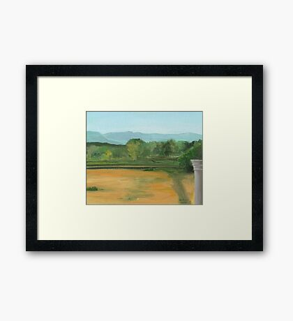 Bennington, pond view Framed Print