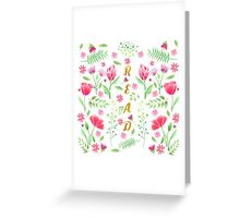 Read Floral Greeting Card