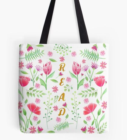 Read Floral Tote Bag