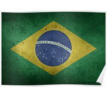 Brazil Flag Grunge Poster