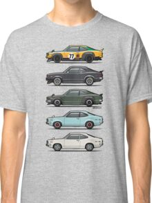 Stack of Mazda Savanna GT RX-3 Coupes Classic T-Shirt