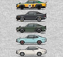 Stack of Mazda Savanna GT RX-3 Coupes Hoodie