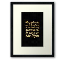 Happiness can be... Inspirational Quote Framed Print