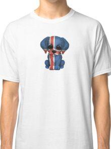 Cute Patriotic Icelandic Flag Puppy Dog Classic T-Shirt